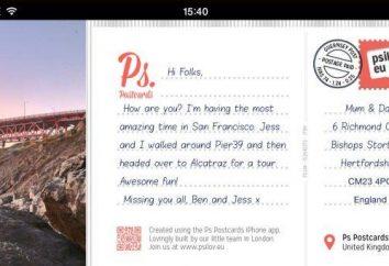 Details darüber, wie eine Postkarte per E-Mail senden