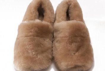 Muster Pantoffel mit seinen Händen aus Fell: eine Meisterklasse Schnitt