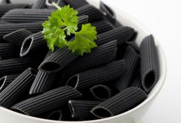 Schwarze Nudeln: bestimmte Rezept