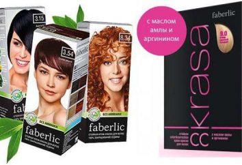"""Paleta kolorów włosów """"Faberlic"""": liczba odcieni"""