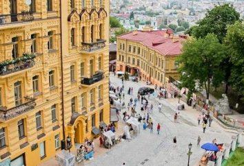 Descente de la célèbre St. Andrew à Kiev