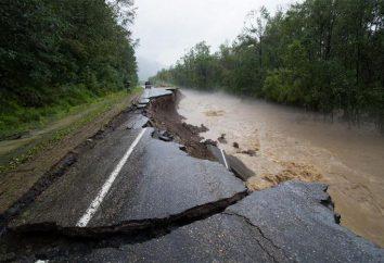 disastro dilagante: inondazioni in Kavalerovo