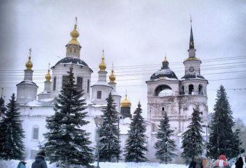 région vologda, Grande Oustioug (ville): histoire, sites et description