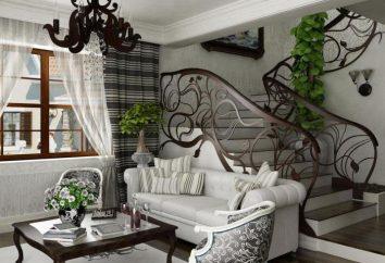 L'appartement meubles style art nouveau, papiers peints et accessoires. caractéristiques de la modernité