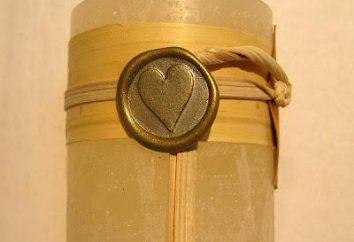 woskową pieczęcią z rejestracją prezenty