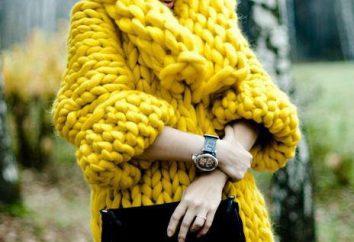 Jak na drutach sweter dużej lepkości lub szydełkowane?