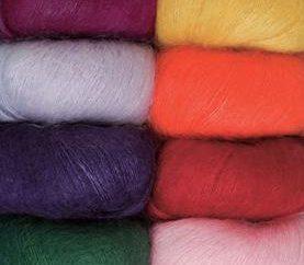 raggi di lavoro a maglia mohair. Ferri da calza: schema. mohair knit