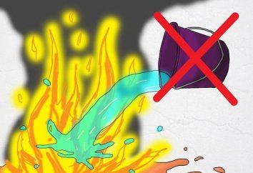 Warum Benzin brennen kann nicht mit Wasser gelöscht werden? Wir lernen!