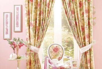 tissus pour rideaux – types, la description, la sélection