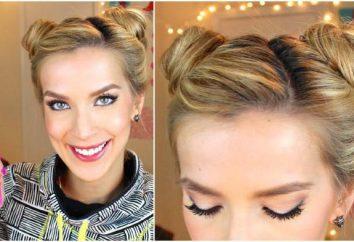 Jak zrobić dwie belki po bokach z gumką lub wałkiem? piękne fryzury