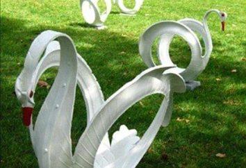 Articles faits de matériaux de rebut: décorer le jardin avec ses propres mains