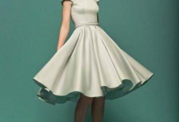 Vestido con una falda a la rodilla – un gran equipo durante naturalezas románticas