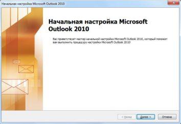 """Einstellung """"Yandex"""" Mail in Outlook: Beschreibung"""