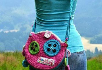 Bolsa para meninas malha. Inspirado pelos trabalhos de Vendula Maderski