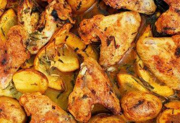 ali della ricetta nel forno con patate e altre verdure