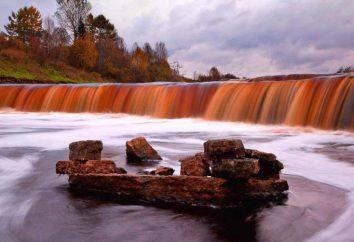 Największy wodospad w regionie leningradzkim