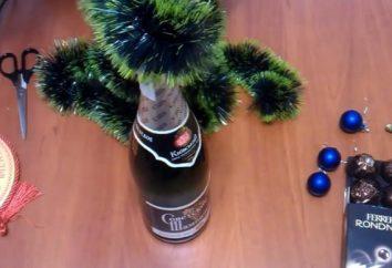 Árvore de Natal feita chocolates e champanhe: fazer jóias originais