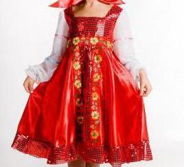 gniazdowania lalki kostium dla dzieci na święta – najjaśniejsza i najpiękniejsza suknia