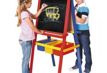Les enfants de chevalet marqueur magnétique double face: hauteur réglable, taille, prix, avis