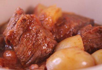 Como cozinhar batatas, cozidos com carne, em multivarka?
