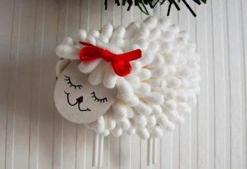 Des idées pour la créativité des enfants: Agneau de cotons-tiges
