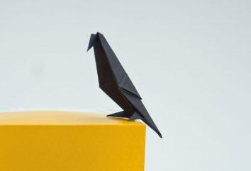 Jak zrobić kruka papierowe: origami oraz pokaz marionetek