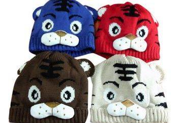 rayons chapeau à tricoter enfants