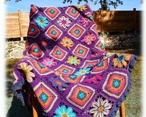 Comment attacher crochet patchwork à carreaux