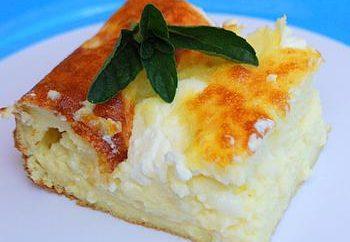 caçarola Curd sem farinha: a receita. caçarola de queijo dietético