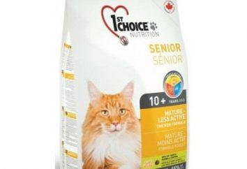 Fourrage pour les chats 1er choix: description du produit, les avantages et les inconvénients