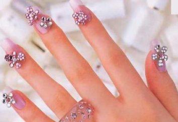 Bello manicure con pietre: idee interessanti, caratteristiche e recensioni