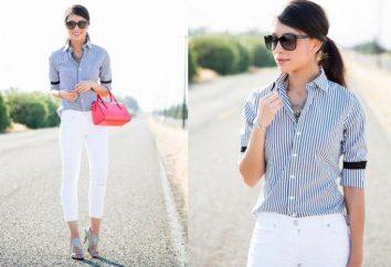De lo que debe llevar camisas con rayas: foto