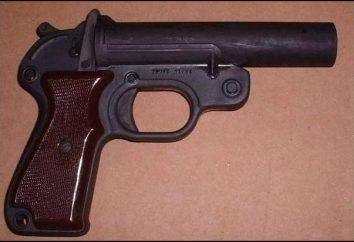 razzo di segnalazione (pistola). razzo di segnalazione in forma di penne