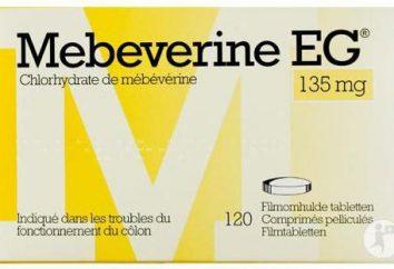 """""""Mebeverin"""": Gebrauchsanweisungen, Preis, Berichte über die Vorbereitung und die Liste des Analoga"""