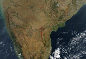 Qual é o nome da península em que a Índia está localizada? Índia moderna: características, mapa