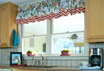 Muster Vorhänge von Hand. Nähen kurze Küchen Vorhänge