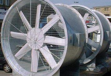 Industrieventilatoren: technische Eigenschaften, Typen, Zweck
