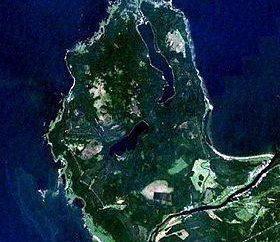 Kurgalsky półwysep Lipovskoe jezioro. zdjęcie