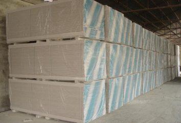 GVLV: características técnicas. Folhas de fibra de gesso resistentes à humidade: aplicação