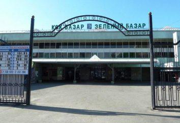 Bazar vert (Almaty): l'histoire, le lieu et le calendrier