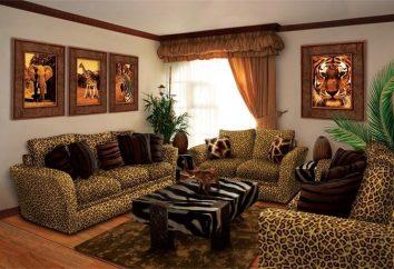 O estilo do design do interior de uma casa de campo