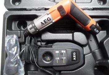 Wkrętaki AEG: przegląd, opis, specyfikacja, instrukcja obsługi, producenta i opinie