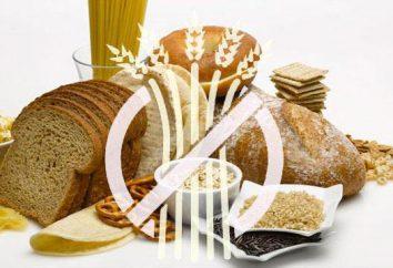 Danno al glutine. alimenti senza glutine