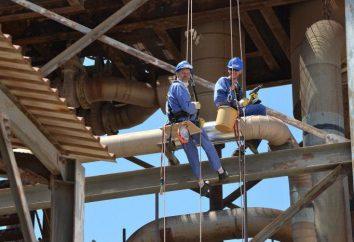 Equipement pour l'alpinisme industriel: éléments nécessaires