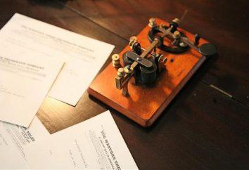Telegraphen: Typen, Diagramm und Fotos