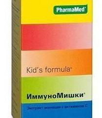Complément alimentaire pour les enfants « ImmunoMishki »: Mode d'emploi