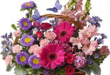 Kosze kwiatów z własnymi rękami. Kompozycje kwiatowe ze świeżych kwiatów