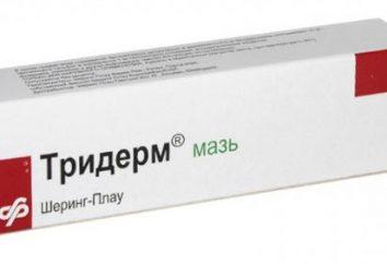 """Lek przeciwgrzybiczy """"Triderm"""": Instrukcja użytkowania"""