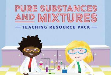 Les substances pures: exemples. Préparation de substances pures