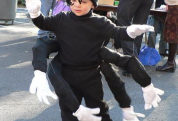 Anzug Spinne Kinder mit ihren eigenen Händen. Karnevalskostüme